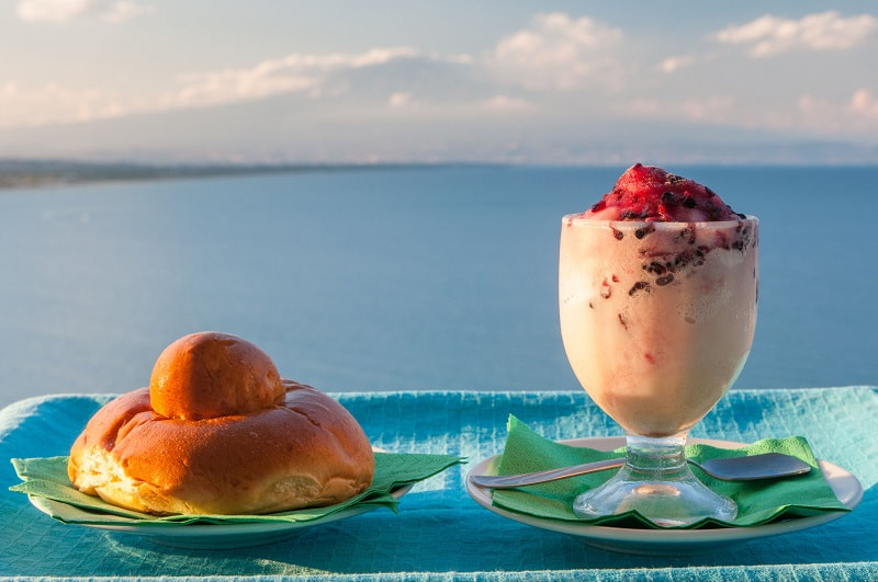Granita - Food and cycling in Sicily