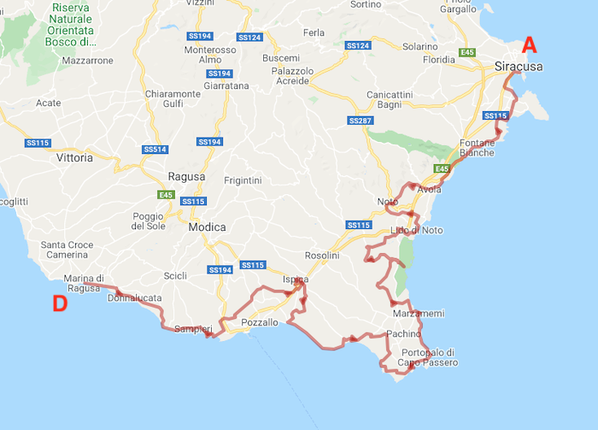 Itinerary - Cycling in Sicily: Syracuse and the coast