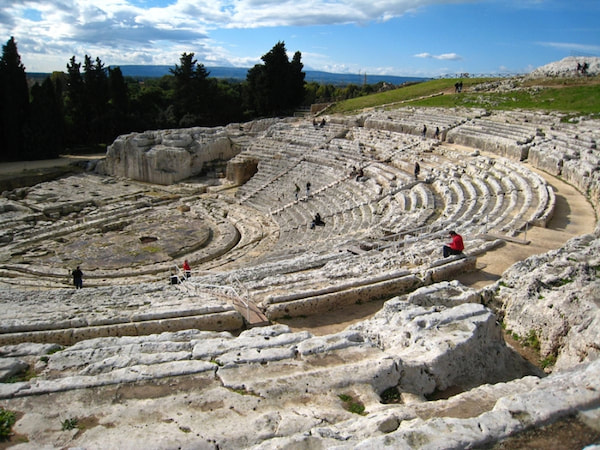 Greek theatre, Syracuse - cycling holidays in Sicily